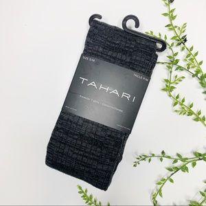 Tahari Sweater Tights Black Gray